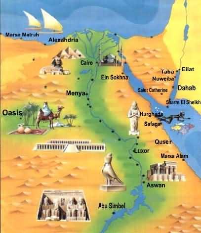 EGITTO - Periodo predinastico, Antico Regno, Medio Regno, Nuovo Regno